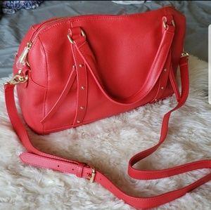 Ora Delphine lux red handbag purse